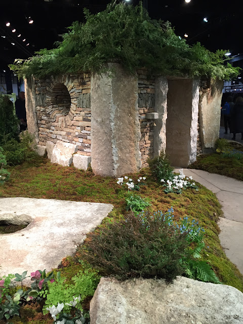 Amazing life-size Fairy House by Maine Stoneworks | Boston Flower & Garden Show 2017