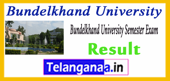 Bundelkhand University MA BHSC BA B.Com B.Sc Result 2018