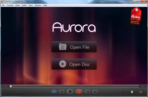 Aurora Blu-ray Player Trial Main Windows