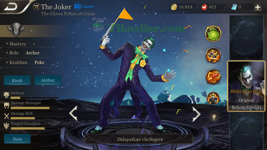 Cara Menggunakan Hero The Joker AOV