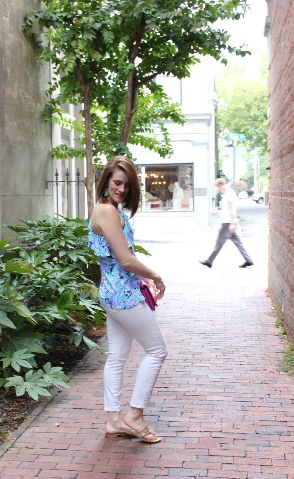 lilly get inky - lilly pulitzer one shoulder top - lilly pulitzer - lilly pulitzer neveah one shoulder top - lilly pulitzer neveah top