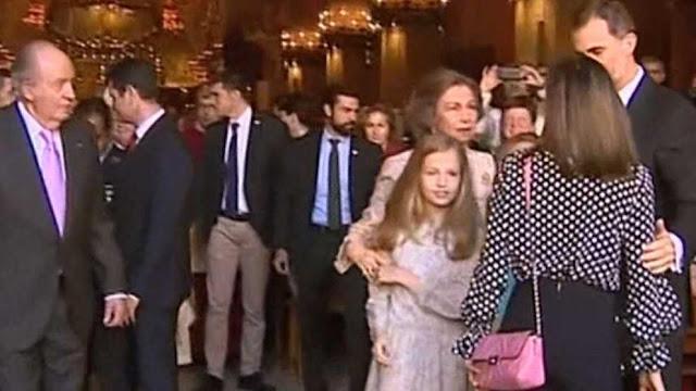 Tensa escena entre la reina Letizia y doña Sofía en Palma