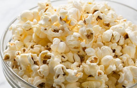 Home prepared popcorn