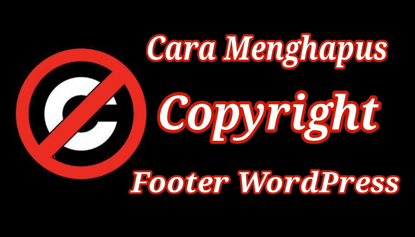 Menghapus Copyright Footer WordPress
