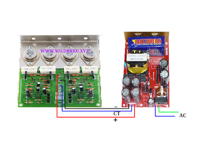 cara memasang smps pada power ampli