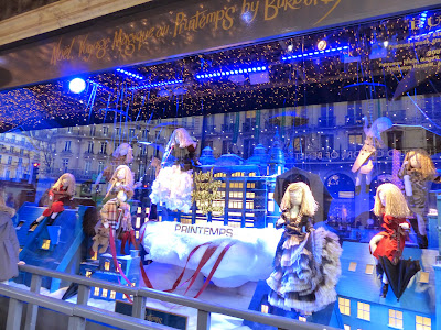 Paris Printemps illuminations et vitrines de Noël en 2014