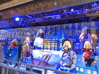 Paris Printemps illuminations et vitrines de Noël en 2014