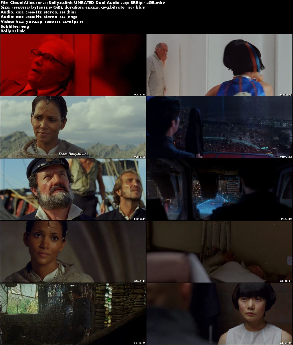 Cloud Atlas 2012 BluRay UNRATED Hindi Dual Audio 720p Download