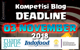 Kompetisi Blog - Hidup Sehat, Yuks! Berhadiah Uang Tunai Jutaan Rupiah