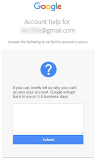 If you can, briefly tell us why you can't access your account