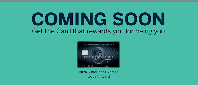Amex Cobalt Card NOW open for application