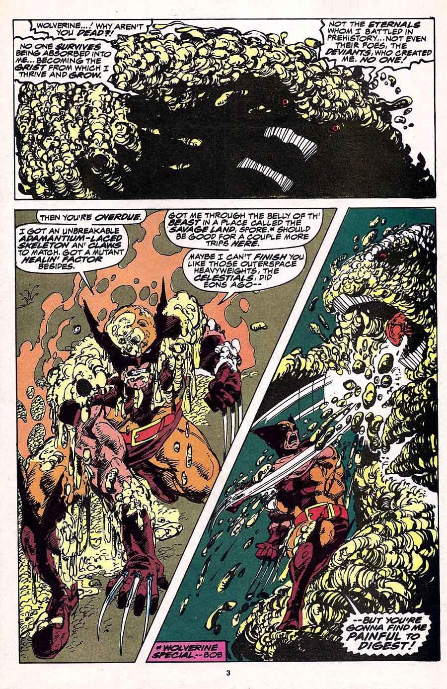 Wolverine v2 #23 marvel 1990s comic book page art by John Byrne
