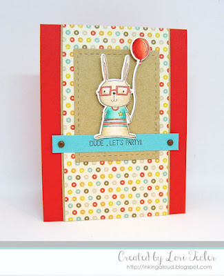 Dude, Let's Party card-designed by Lori Tecler/Inking Aloud-stamps and dies from Lil' Inker Designs