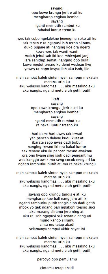 Lirik Lagu Via Vallen Sayang