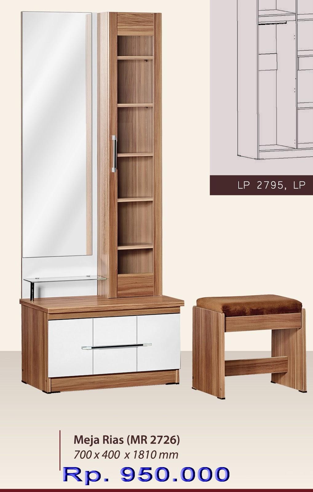 Furniture Rumah Online Meja Rias Minimalis Bougenville