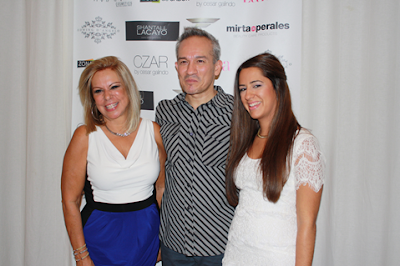 Designer Cesar Galindo with Mirta de Perales team, sponsors of Latinista Fashion Week SS14 New York City - Image courtesy of Latinista Fashion Week and used with permission.