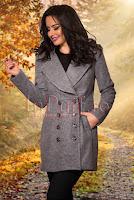 Palton elegant gri din lana