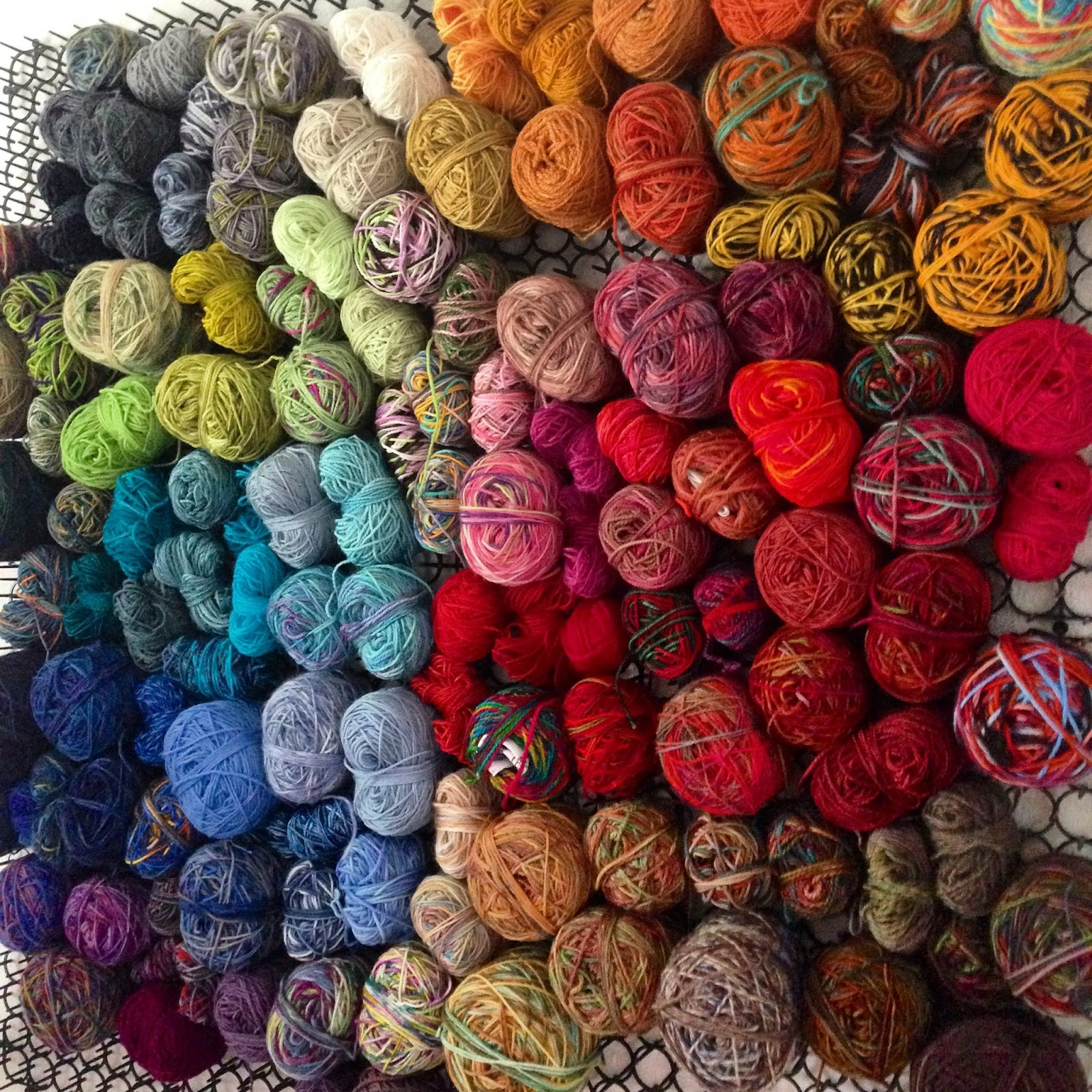 How To Knit Stitches On Scrap Yarn : Creative with clay: Pottery by Charan Sachar: Scrap Sock Yarn Blanket