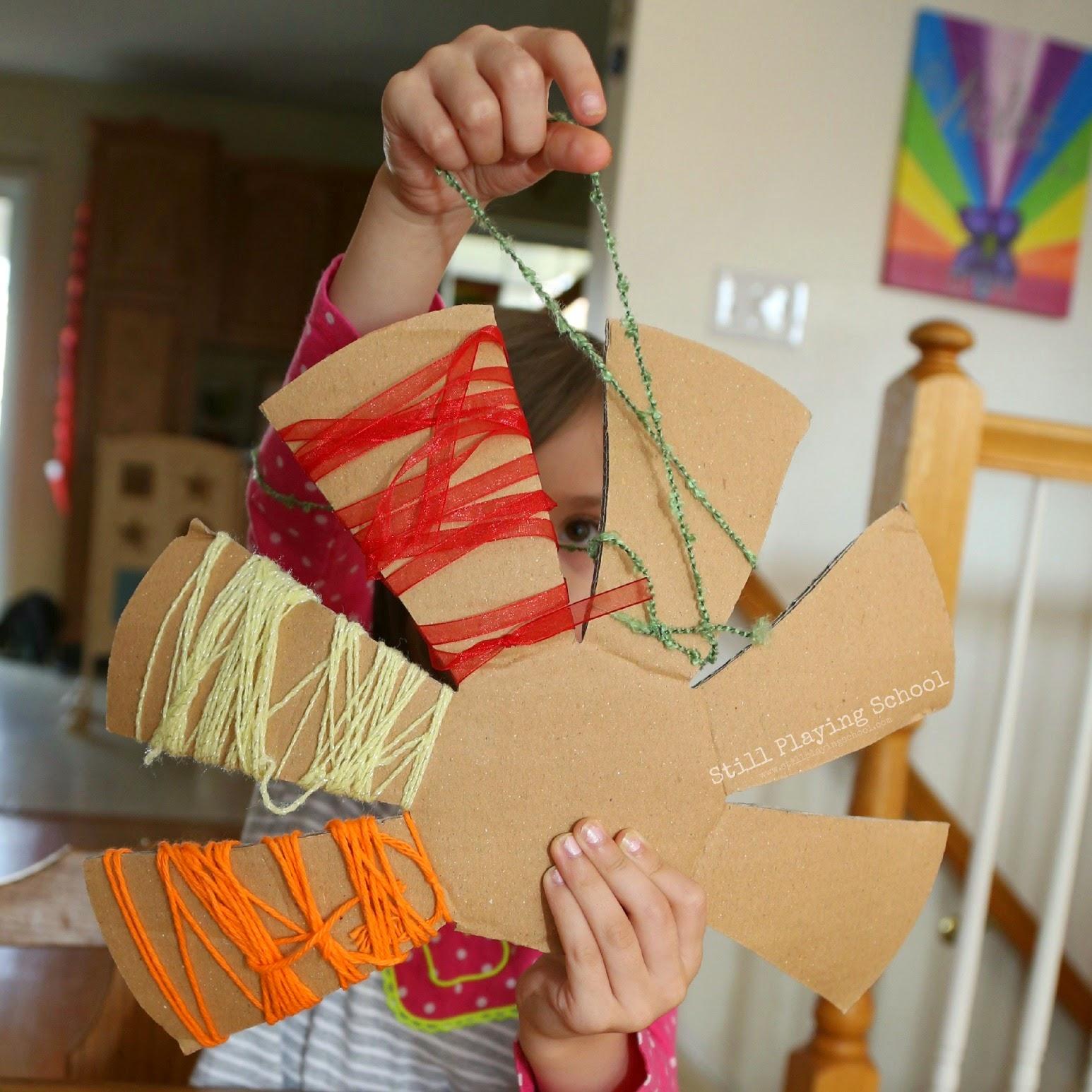 Yarn Wrapped Turkey Craft | Still Playing School