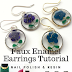 Faux Plique-a-jour Enamel Earrings Tutorial Uses Nail Polish and Resin