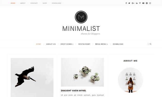 Minimalist - бесплатный шаблон для Blogger