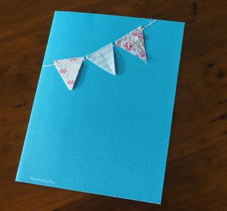 Fabric Scrap Bunting Card