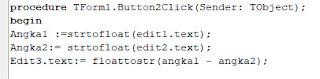 Memberi Source Code pada Button