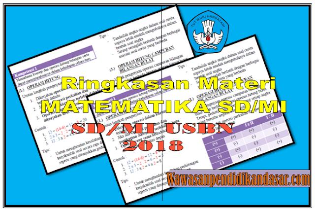 dOWNLOAD SOAL ringkasan amteri Matematika SD/MI USBN 2018