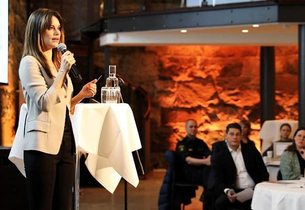Princess Sofia attended a seminar held by Gålöstiftelsen at The Brewery Conference Center in Stockholm