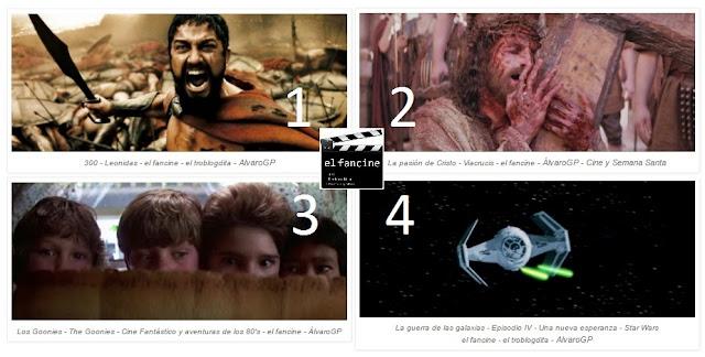 Las 4 pelis más vistas en el fancine - 300 - La pasión de Cristo - Los Goonies - La guerra de las galaxias - ÁlvaroGP - el fancine - el troblogdita