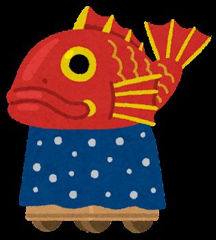 唐津くんちの山車のイラスト(鯛)