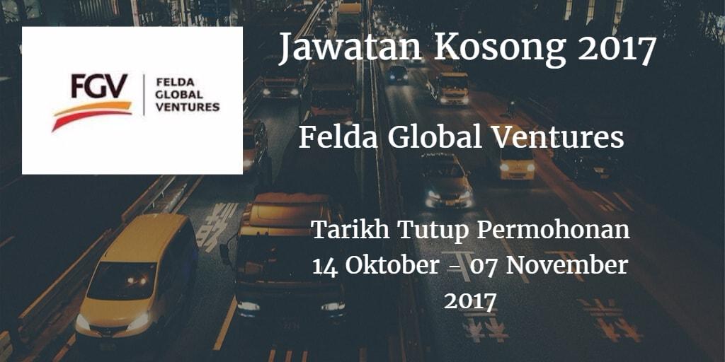 Jawatan Kosong FGV 14 Oktober - 07 November 2017