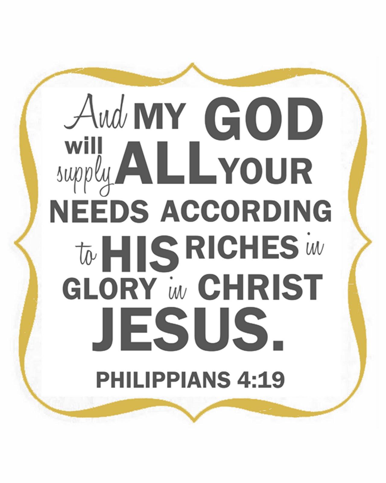 JAMES A.E. MACLELLAN: Misused Bible Verses That Should Concern You –  Philippians 4:19