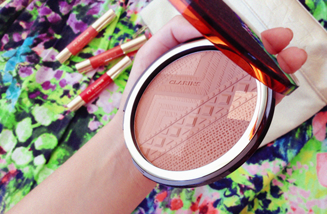 Clarins Colours of Brazil bronzer beauty blog review