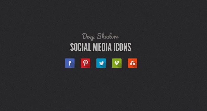 Long Shadow Social Media Icons