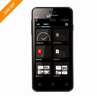 Lowest Price Deal: Micromax Bolt A67 Dual SIM Android Mobile Phone- Black (1GHz Dual Core Processor, 512MB, Capacitive Touch)  worth Rs.6500 for Rs.4779 Only