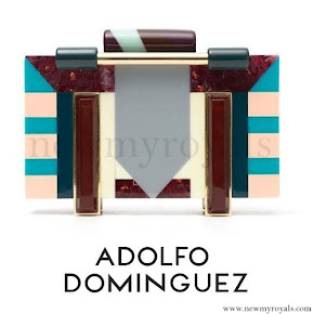 Queen Letizia style Adolfo Dominguez Clutch