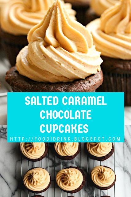 SALTED CARAMEL CHOCOLATE CUPCAKES RECIPE