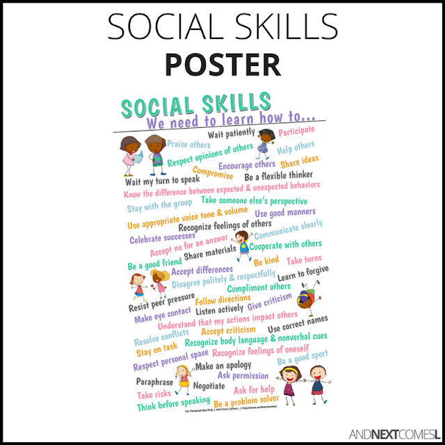Social skills poster from And Next Comes L