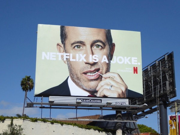 Jerry Seinfeld Netflix is a joke billboard