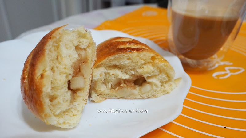 Apple Bun 蘋果包 自家烘焙 食譜 home baking recipes 自家烘焙 食譜 home baking recipes