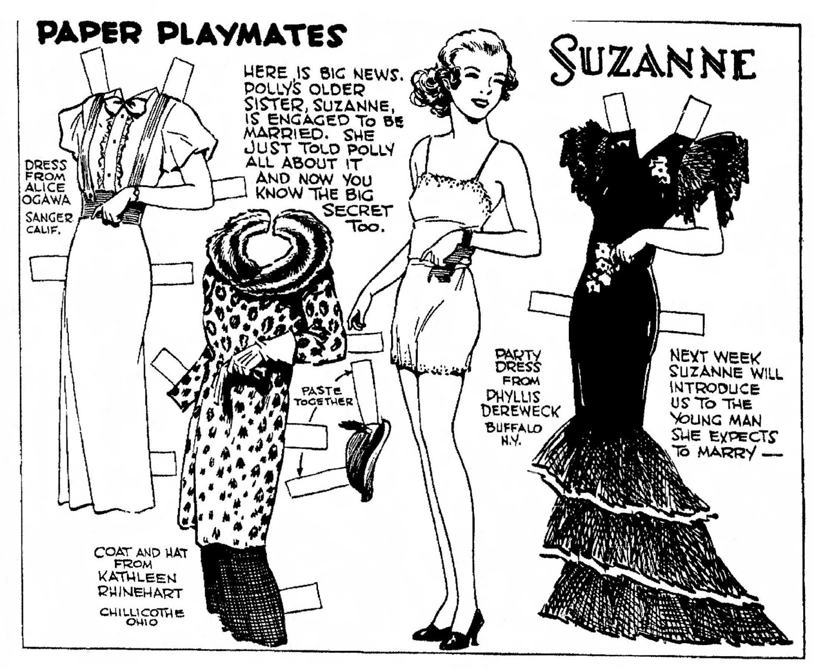 Mostly Paper Dolls Too!: January 2013