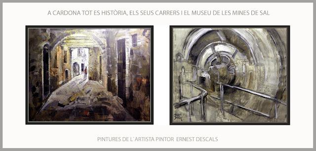 CARDONA-PINTURES-PINTURA-HISTORIA-MEDIEVAL-CATALUNYA-PAISATGES-CARRERS-MUSEU-MINES-SAL-ARTISTA-PINTOR-ERNEST DESCALS