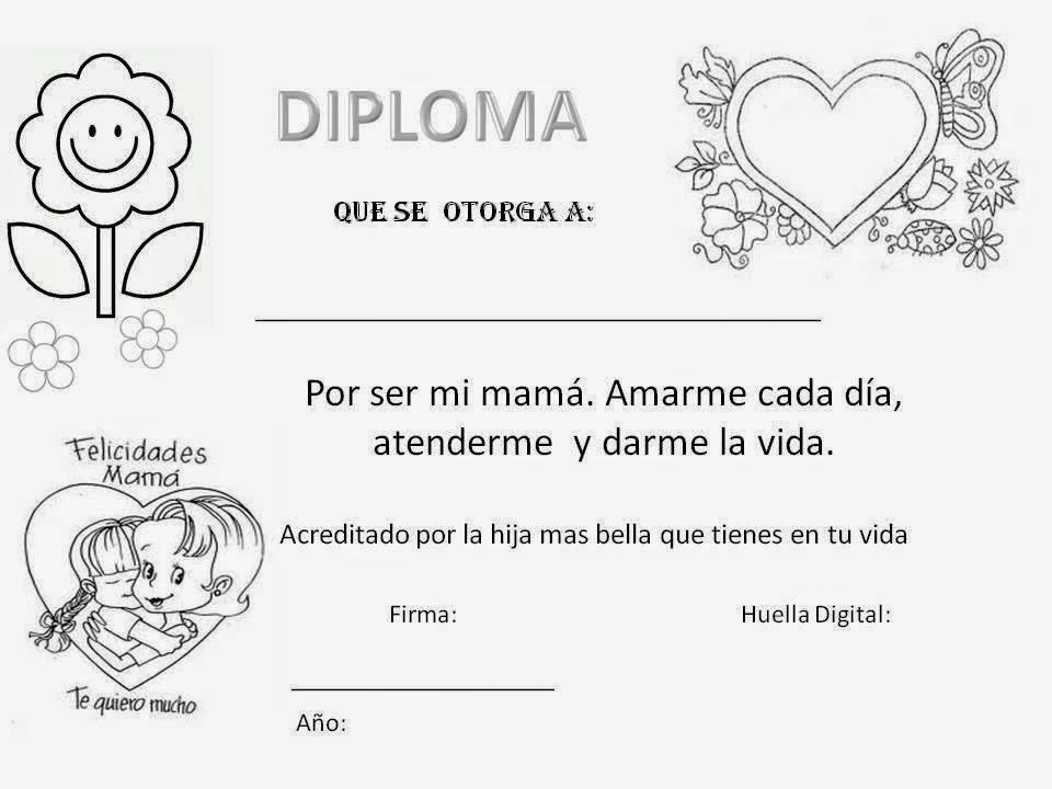Maestra de Primaria: Tarjetas del día de la Madre para colorear