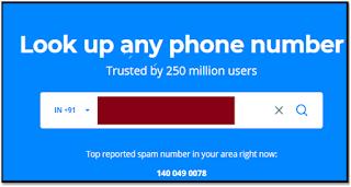 Truecaller Phone Lookup service