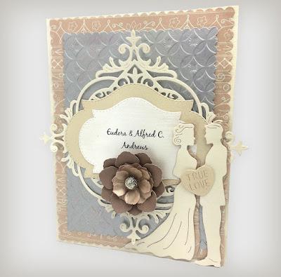 Wedding Card by Chrissy Mac Designs