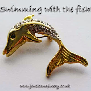 Swimming with fish - jewellery quote
