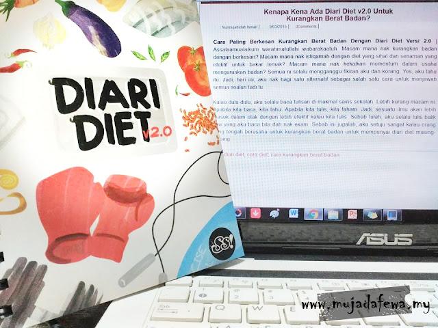 diari diet, susu sejat, diari diet 2.0, panduan kurangkan berat badan