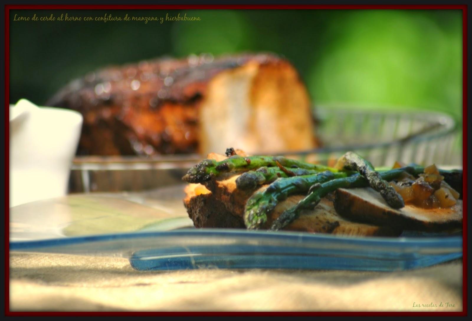 Lomo de cerdo al horno con confitura de manzana y hierbabuena 05
