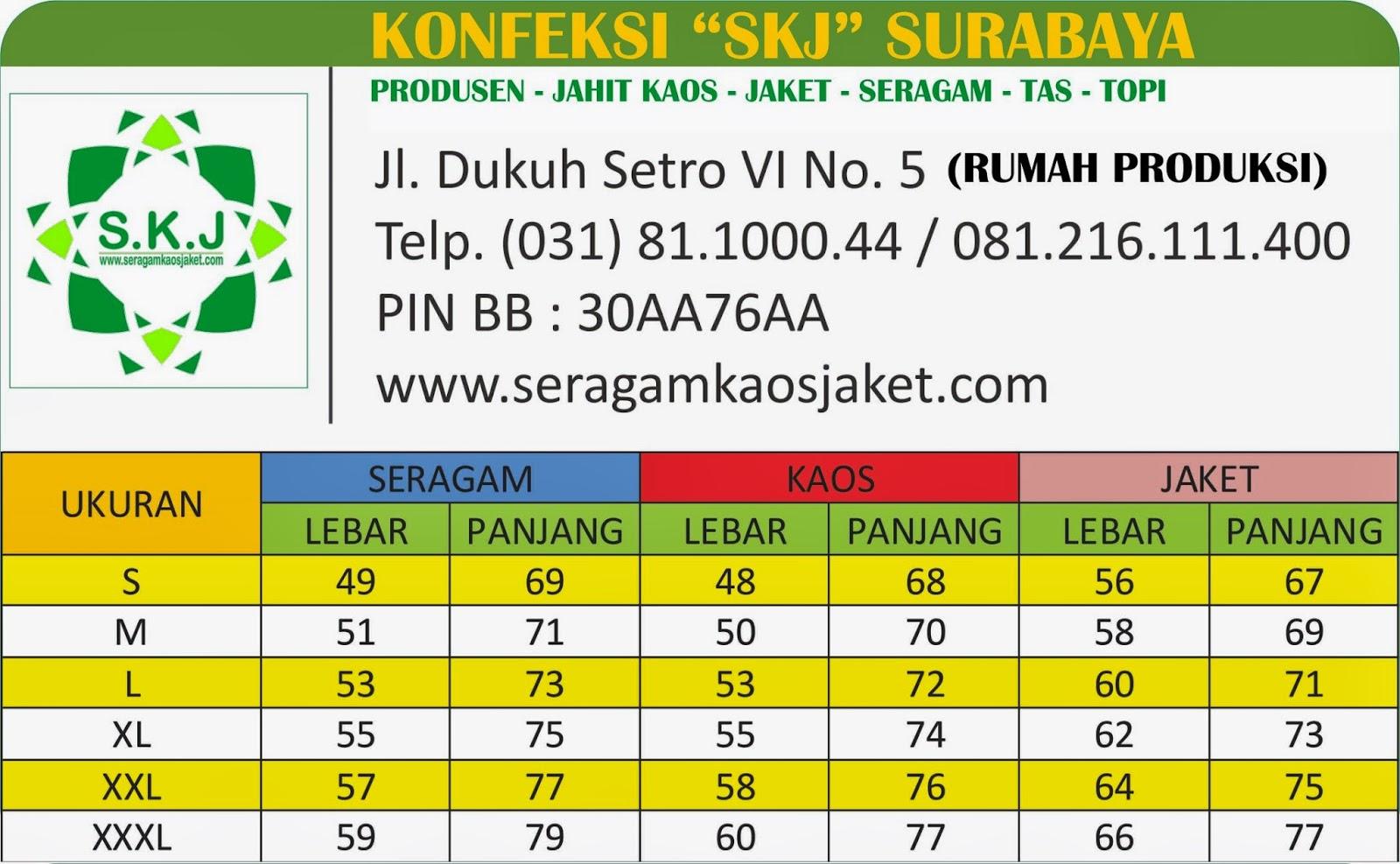 Konveksi Surabaya Tempat Pesan Kaos Promosi Surabaya